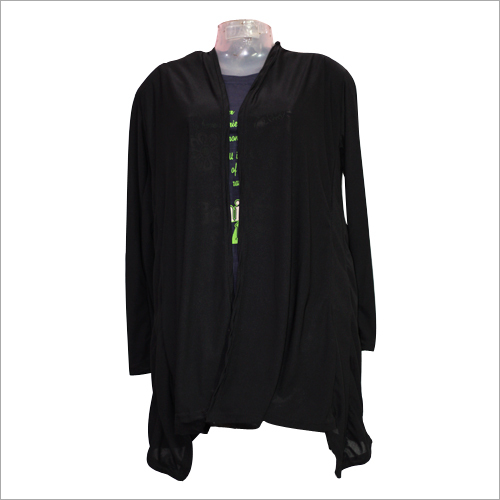 Ladies Plain Black Shrug