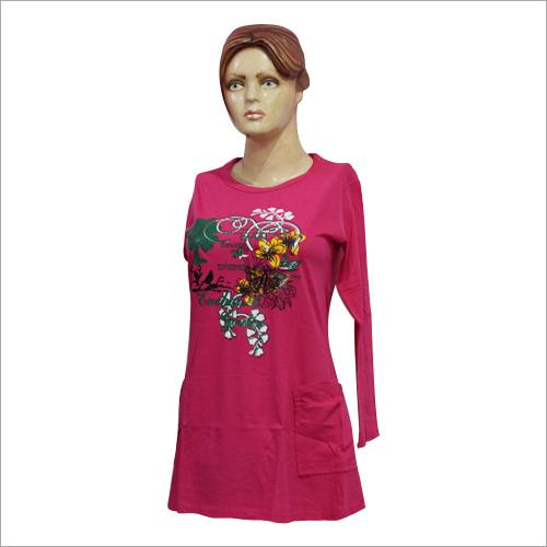 Ladies Long Sleeve Printed Top