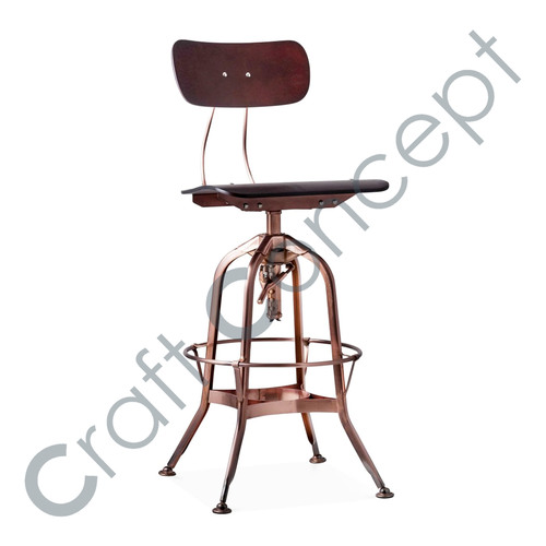 REVOLVING METAL BAR CHAIR
