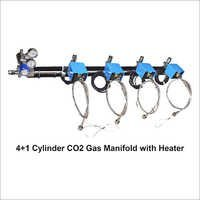 4+1 Cylinder Co2 Gas Manifold With Heater2