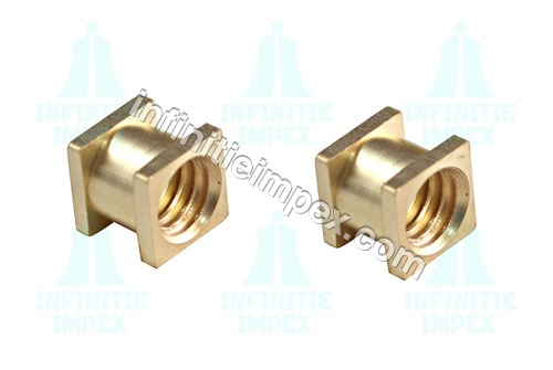 Brass 2 Square Molding Inserts