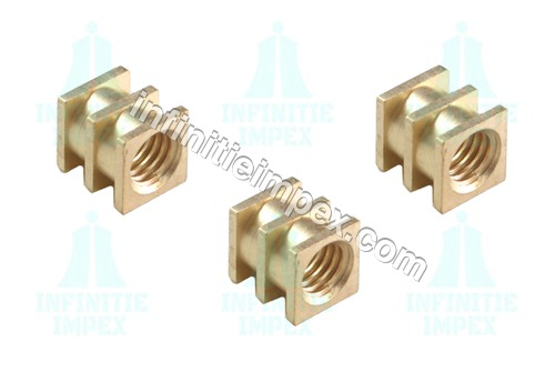Brass Triple Square Inserts