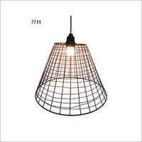 Rustic Metal Wire Basket Lamp