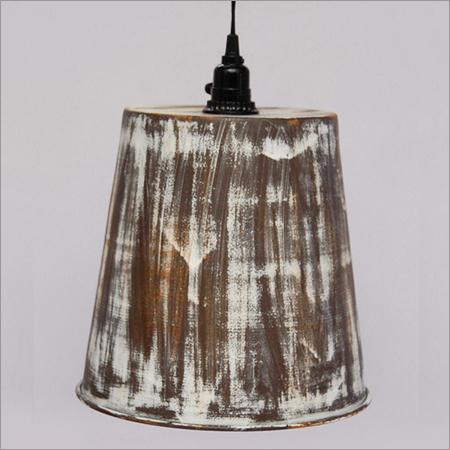 Iron Pendant Lamps Brown Antq