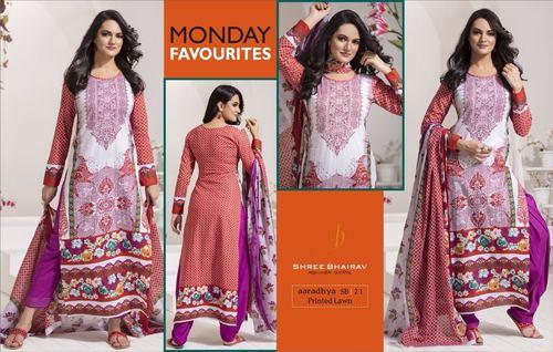 Shree Bhairav Cotton Printed Dress Material