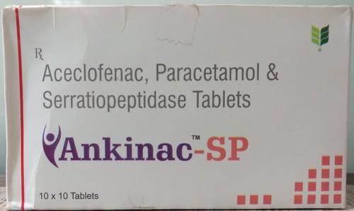 Aceclofenac,paracetamol,serratiopeptidase Tab