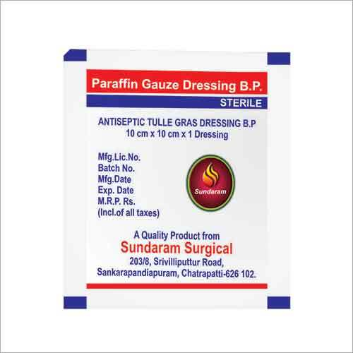 Paraffin Gauze Dressing And Chlorohexidine Gauze Dressing