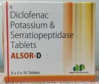 Diclofenac potassium,serratiopeptidase tablets