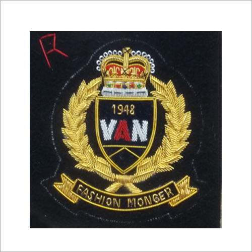 Hand Made Bullion Embroidered Badges
