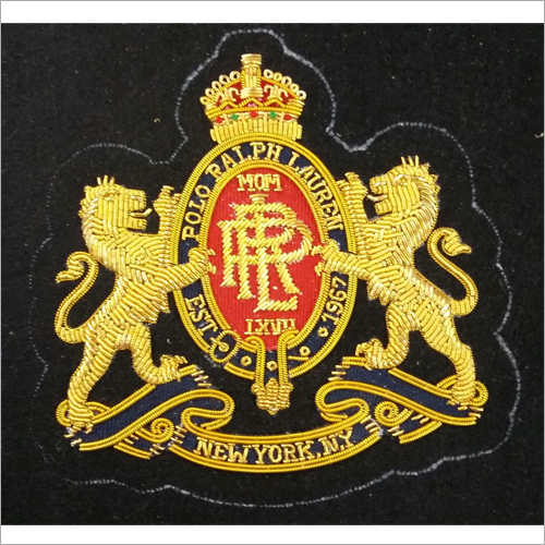 Hand Made Bullion Wire Embroidered Badges Manufacturer in Delhi,Hand