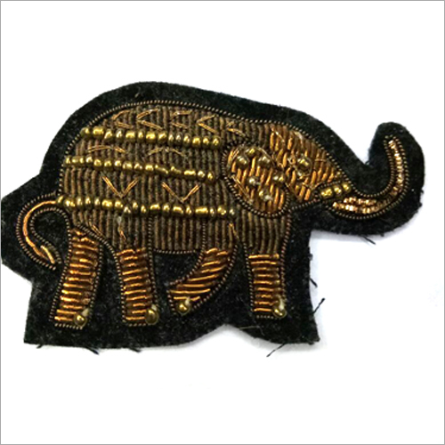 Hand Made Elephant Embroidered Badges
