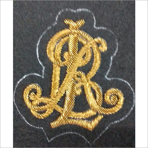 Hand Made Gold Thread Embroidered Badges