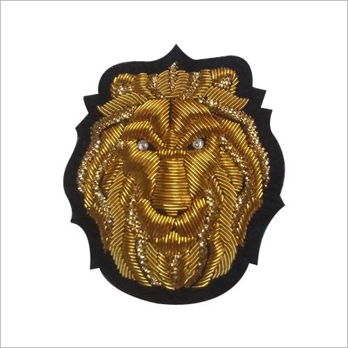 Hand Made Golden Lion Embroidered Badges