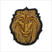 Hand Made Golden Lion Embroidered Badges