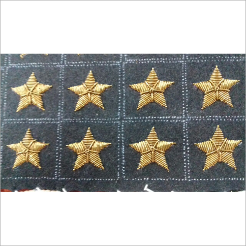 Star Gold Embroidered Badge