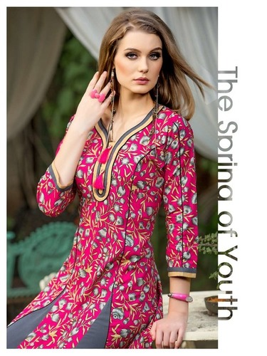 PRINTED COTTON FANCY KURTI