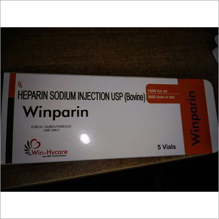 Heparin Sodium Injection Usp 5000 Iu In 5ml