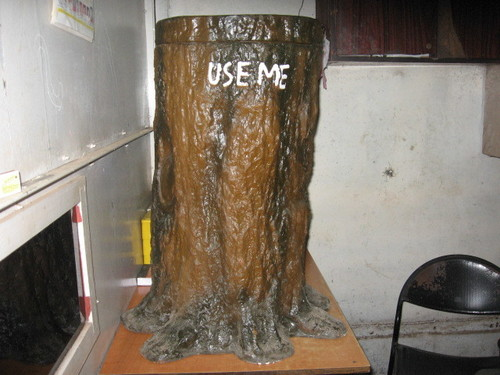 Tree Trunk Dustbin