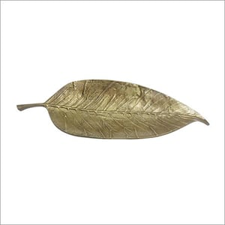 Antique Brass Leaf Tray