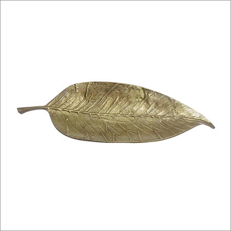 Antique Brass Leaf Tray