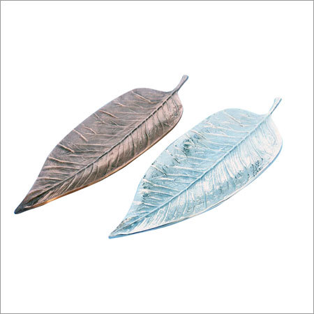 Copper Nickel Leaf Dish