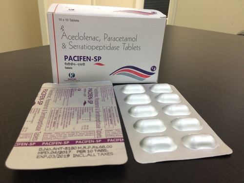 Aceclofenac-100 mg +Paracetamol-325 mg + Serratiopeptidase-15 mg