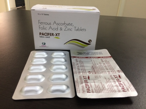 Ferrous Ascorbate-100 mg + Folic Acid-1,5 mg + Zinc-22.5 mg