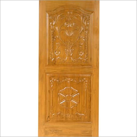Teak Hand Carved Wood Door