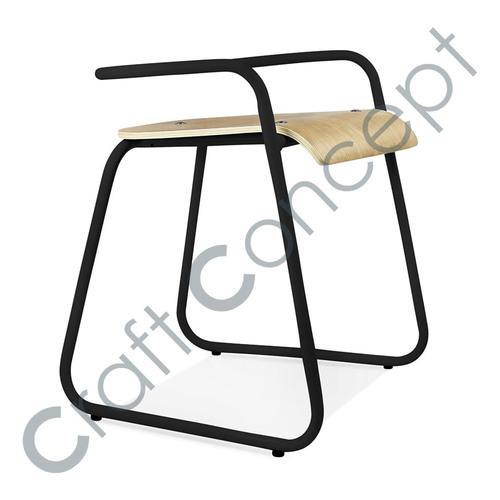 Metal Half Bistro Chair