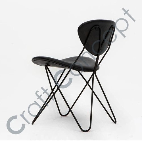 Black Metal Hairpin Chair