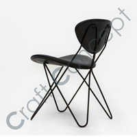 Black Metal Hairpin Chair