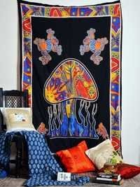 Hippie Printed Wall Hanging Wall Tapestries