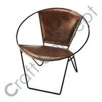 Round Leather Chair