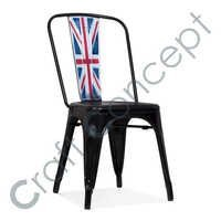 Black Leather & Metal Chair
