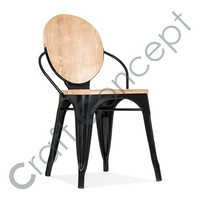 Black Wood & Metal Chair