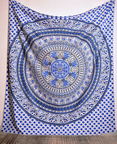 Indigo Printed Wall Tapestries