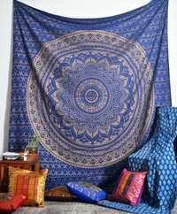 Dark Blue Indian Mandala Tapestries