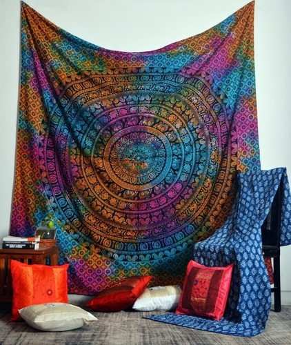 Indian Print Wall Hanging Wall Tapestries