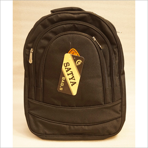 Plain Black School Bag
