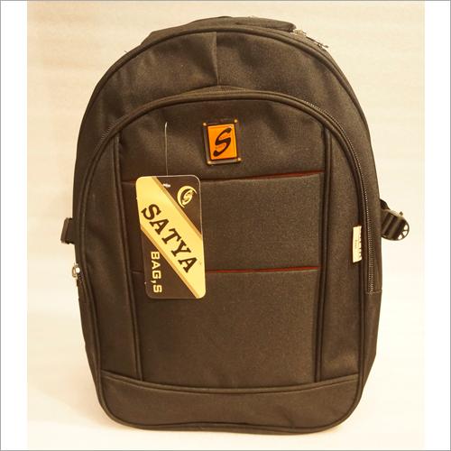 Plain Black College Bag