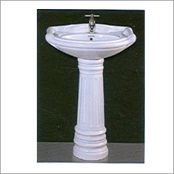 22x17 Rajwadi Set Pedestal Wash Basin