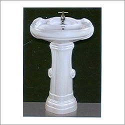 25x19 Big Sterling Set Pedestal Wash Basin