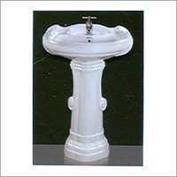 25x19 Big Sterling Set Pedestal Wash Basin