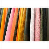 Colored Leather Fabric