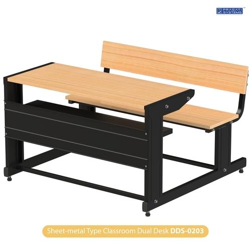Sheet-metal Classroom Study Dual Desk DDS-0203