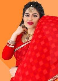 Exclusive Red Saree