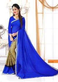 Excusive Blue Designer Saree