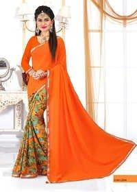 Designer Saffrone Saree
