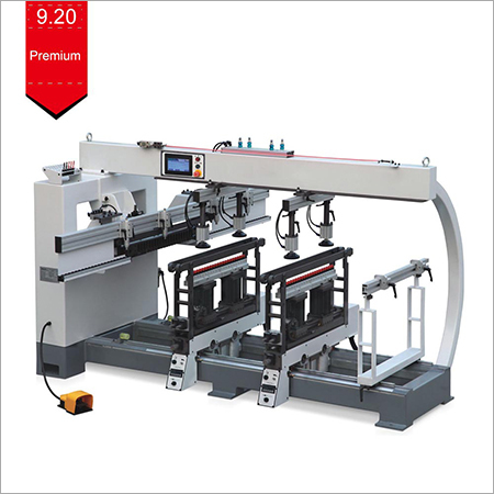 Three Lines Horizontal Multi Spindle Wood Drilling Machine