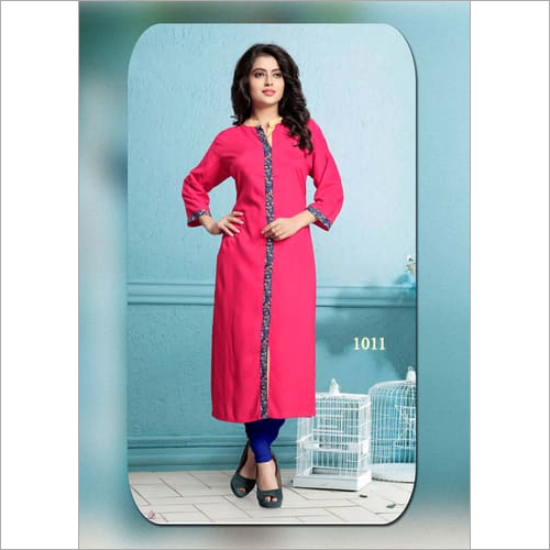 light pink woman,s kurti